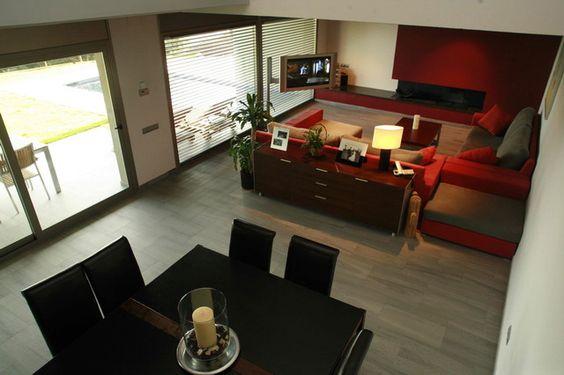 Decoracion moderno comedor sala de estar sillas for Sala de estar y comedor decoracion