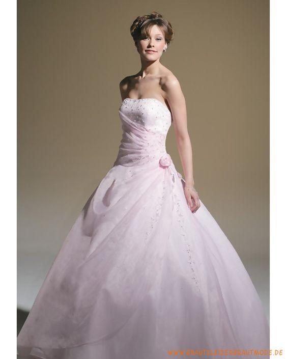 2013 Neues Brautkleid aus Organza verziertes Mieder und schöner Ballrock