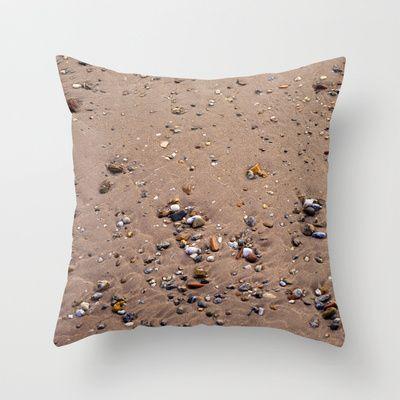 Beach Sand 7130 Throw Pillow by metamorphosa - $20.00