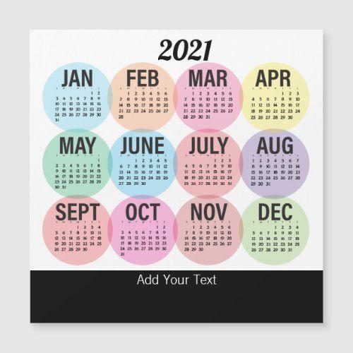 2021 Colorful Calendar 2021   Colorful Monthly Calendar | Zazzle.| Monthly calendar