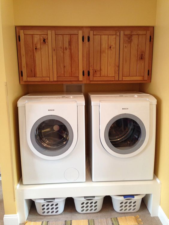 Delightful Love My Cabinets And Storage For Clothes Baskets Under The Washer/dryer |  Laundry/Mud Room Ideas | Pinterest | Clothes Basket, Dryer And Washer