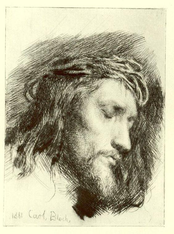 Portrait of Christ by Carl Heinrich Bloch