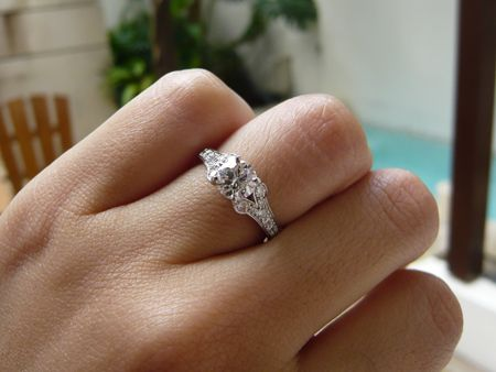 Gold diamond ring simple