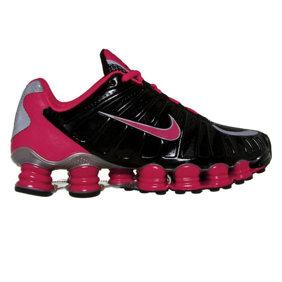 NIKE Women\u0026#39;s Shox TLX Training Running Shoes-Black/Siren