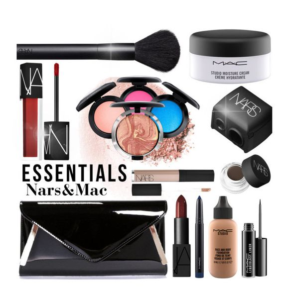"""Essentials:Nars&Mac"" by zoeysunday ❤ liked on Polyvore featuring beauty, NARS Cosmetics, Boohoo and MAC Cosmetics"