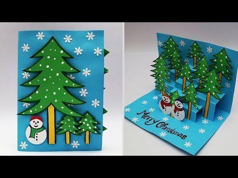 Diy 3d Christmas Pop Up Card How To Make Christmas Greeting Card H Christmas Greeting Cards Handmade Christmas Cards Handmade Christmas Cards Handmade Kids