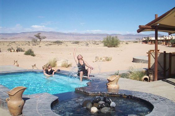 Sparkling pool at Desert Camp