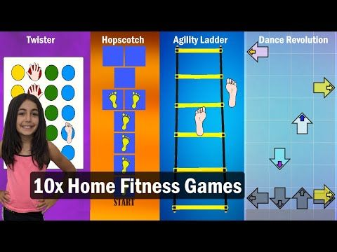 10x Fitness Games Kids Workout Exercise Games For Kids Lots Of Fun Youtube Workout Games Fitness Games For Kids Exercise For Kids