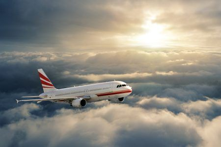 #Airplane #Flying #Sky #Clouds