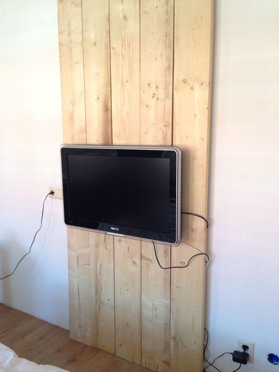 TV wand steigerhout  Eigen creaties  Pinterest ~ Tv Wand Laminat