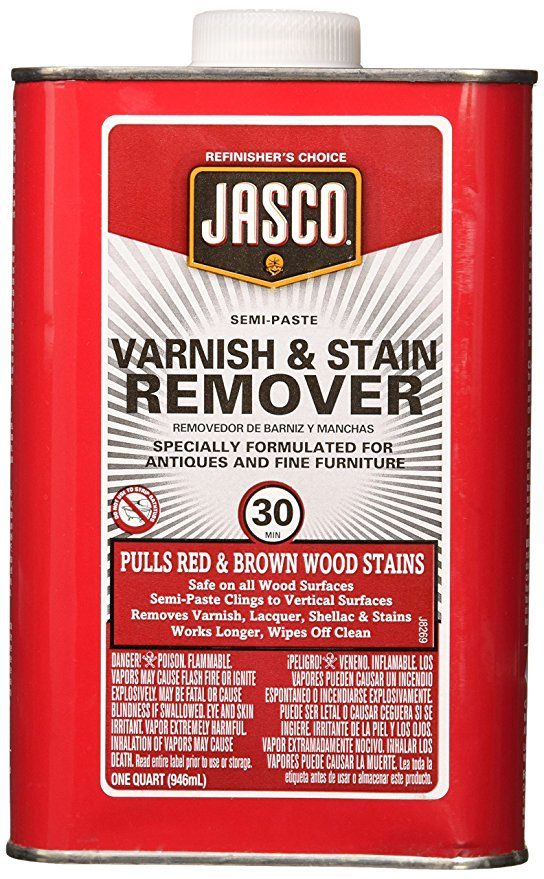 Jasco Qjbv00102 Varnish And Stain, Furniture Stain Remover