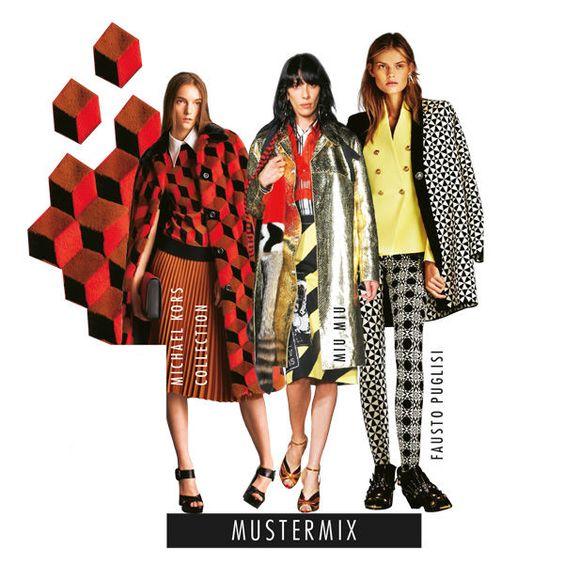 Mustermix Je gewagter die Kombination, desto spannender der Look. Bei diesem Trend treffen ganz unterschiedliche Muster aufeinander. Für Modemutige!