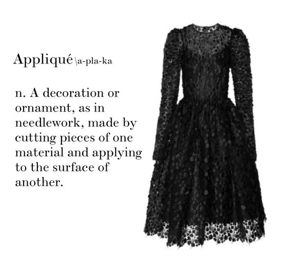Fashion Vocabulary_ Appliqué