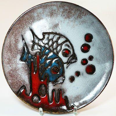 Ruscha Wand Teller Schale 717 • West German Pottery • gemarkt und signiert