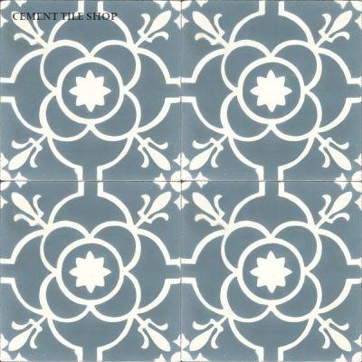 Cement Tile Shop Handmade Cement Tile Paris Blue