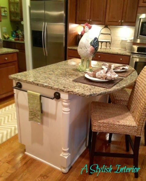 Budget Farmhouse Kitchen Island Makeover !