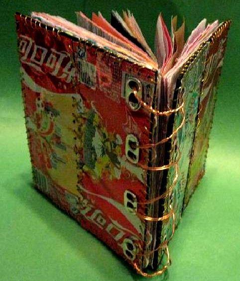 Ocho originales ideas para hacer encuadernaciones con materiales reciclados