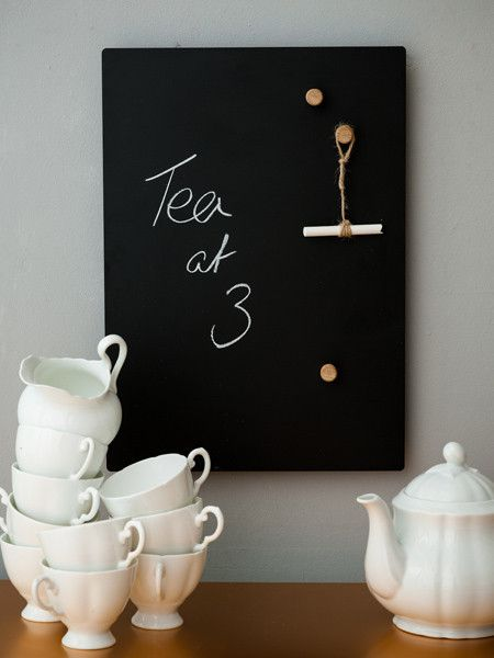 Such a cut idea! - A3 Magnetic Blackboard, kitchen crafts, crafts for the home, diy handmade crafts, crafting for all ages