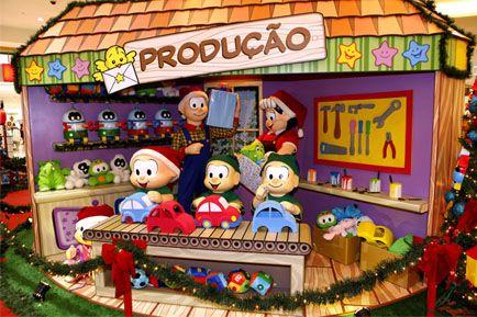 Chegada do Papai Noel e inauguração da Decoração de Natal Turma da Mônica no Shopping Parque das Bandeiras