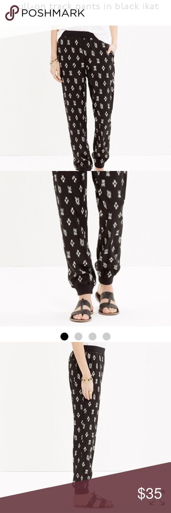 Madewell pants Madewell pull on track pants- size is large- the pants look exactly how they look the in the picture, they are in perfect condition. Madewell Pants