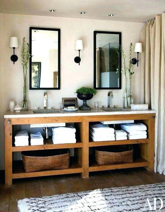 Bathroom Vanities With Open Bottom Shelf Dove Gray Bathroom