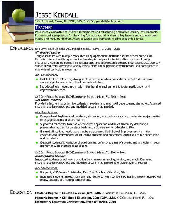 Resume Sample For Transferring Schools