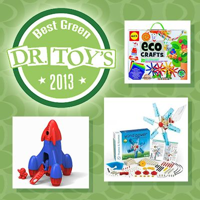 Best Green Toys of 2013 List by #DrToy! See what the doctor prescribes as this year's best toys for kids on: http://blog.gifts.com/gift-trends/dr-toys-top-eco-friendly-toys