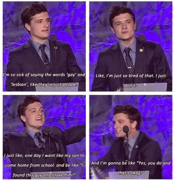 I absolutely love this! :) thank you Josh Hutcherson you amazing person you. :) plus you is attractive. Lol. XD