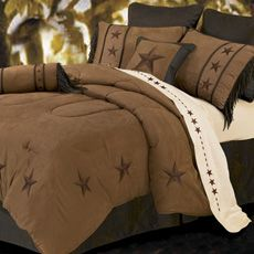 Bedroom-Liking the TEXAS Lone Star: Lucky Stars, Bedroom Texas, Texas Bedding, Texas Bedroom, Guest Bedroom, Texas Stars I, Star Bedding