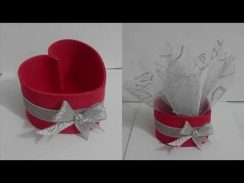 علبة على شكل قلب رائعة من ورق الفوم وسهلة الصنع Youtube Baby Shower Napkin Rings Decor