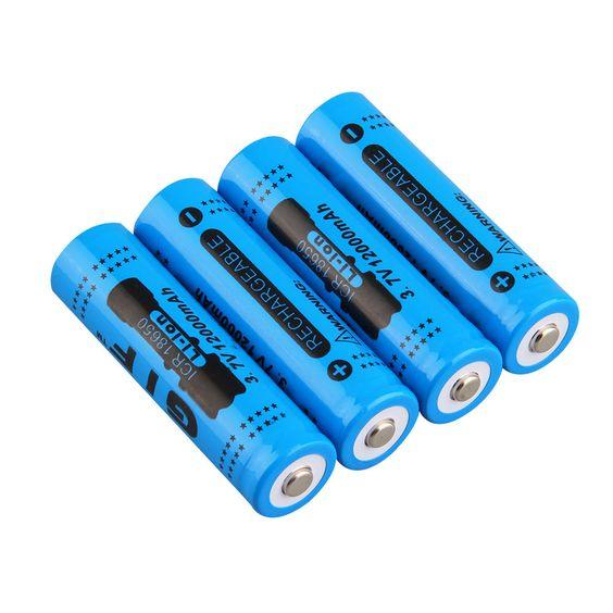 18650 3.7V 12000mAh Rechargeable Li-ion Battery for LED Torch Flashlight BQ