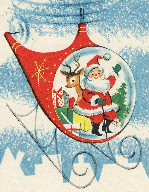 Santa, traveling via helicopter!