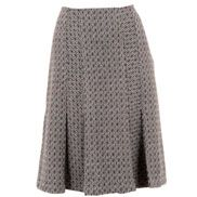 Tweed Kick Pleat Skirt
