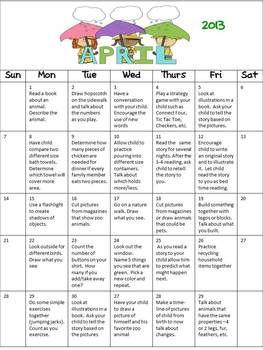 March Homework Calendar With Activity Packet Preschool Calendars