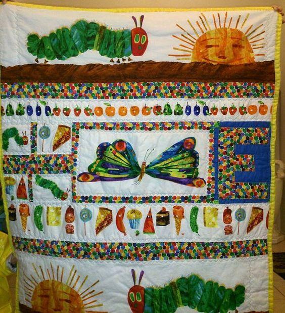 Custom Hungry caterpillar quilt