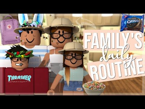 Family S Daily Routine Roblox Bloxburg Roleplay Youtube Roblox Disney Artwork Roblox Pictures