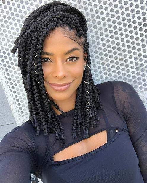 10 Medium Box Braids You Need To Try Braided Hairstyles