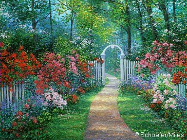 Casa con jardin lleno de flores dibujo cerca amb google - Cercas para jardin ...