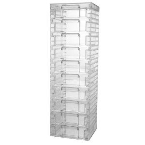 Acrylic Organizer Tower with 10 Drawers
