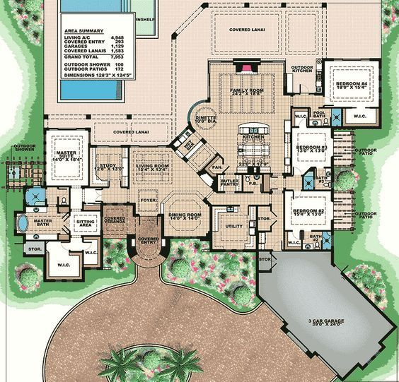 Plan 66348we Opulent Mediterranean House Plan Mediterranean House Plan Mediterranean House Plans Mediterranean Style House Plans