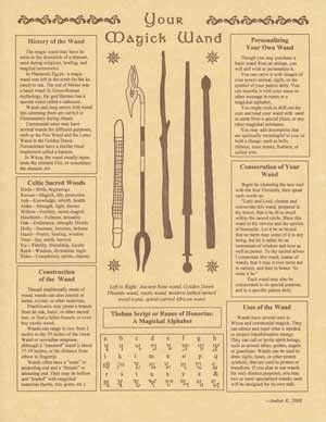 Your Magick Wand Parchment Book of Shadow Page or Poster!: