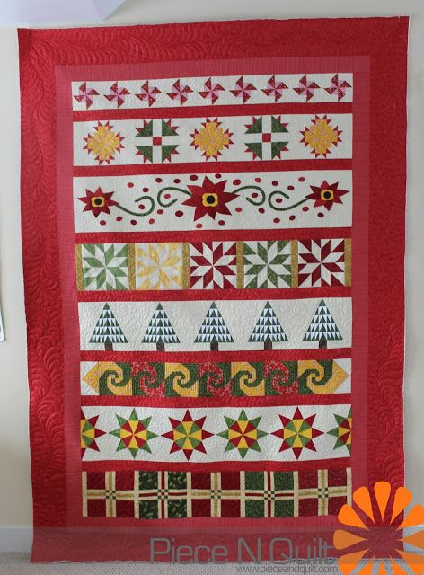 Piece N Quilt: Christmas Row Quilt xox: