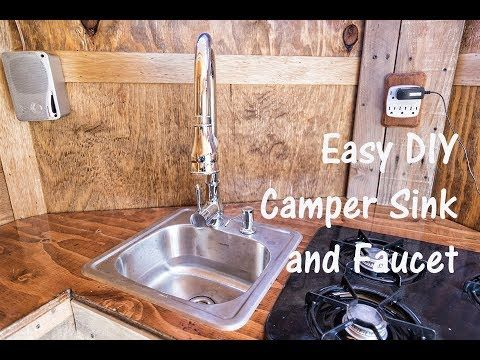 Easy Diy Camper Sink And Faucet Setup Using Water Cooler Jugs Now
