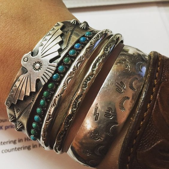 stack obsession #nativeamerican #silver #turquoise #ralphlauren