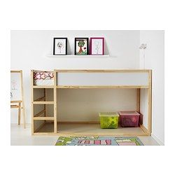 kura reversible bed white pine beds and ikea. Black Bedroom Furniture Sets. Home Design Ideas