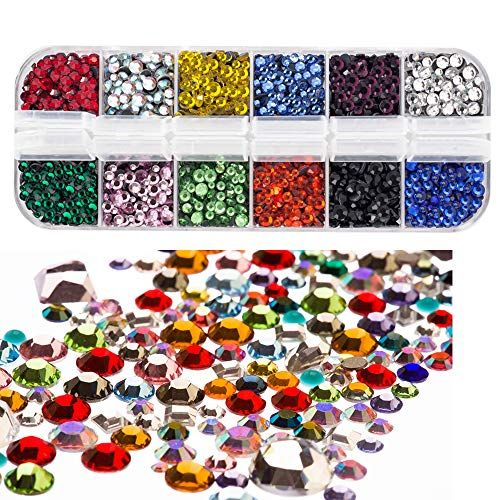 100 2mm 3mm 4mm Stick On Diamante Pearl Rhinestones Self Adhesive Crystals Gems