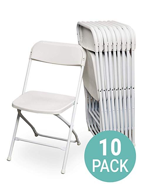 Eventstable Titanpro Plastic Folding Chair White 10 Pack Review Folding Chair Plastic Folding Chairs Chair
