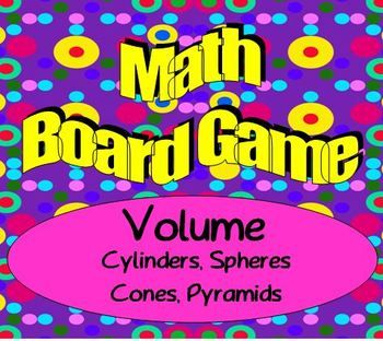 math worksheet : math board game  geometry  volume  sphere cylinder cone  : Math Games For 8th Graders Worksheets