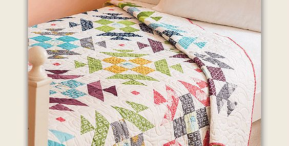 Dig Into Your Stash to Make Your Own Version of This Charming Quilt! Clear colors against a white background make this traditional quilt block feel brand new. Stitch several together and they'll produce a modern quilt that brims with old-fashioned charm. The pattern can be made up with a variety of fat quarters, or dig …