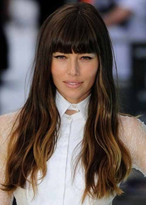 10 Unavoidable Long Bangs Hairstyles And Haircuts For Your Great Attraction Balayage Hair Long Hair With Bangs Easy Hairstyles For Long Hair